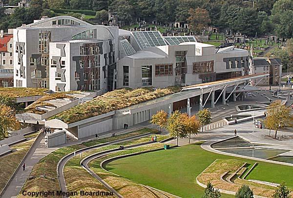 Scottish Parliament Building Edinburgh Scotland
